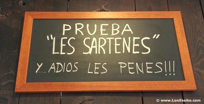 Carteles restaurantes Asturias fotos