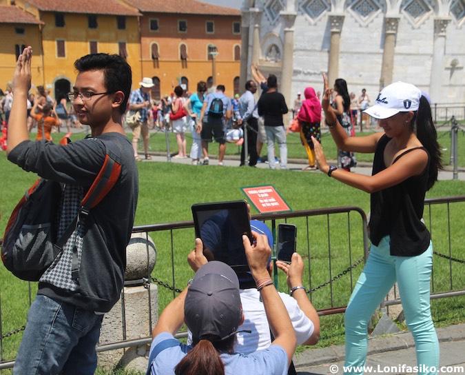 Torre Pisa Fotos divertidas