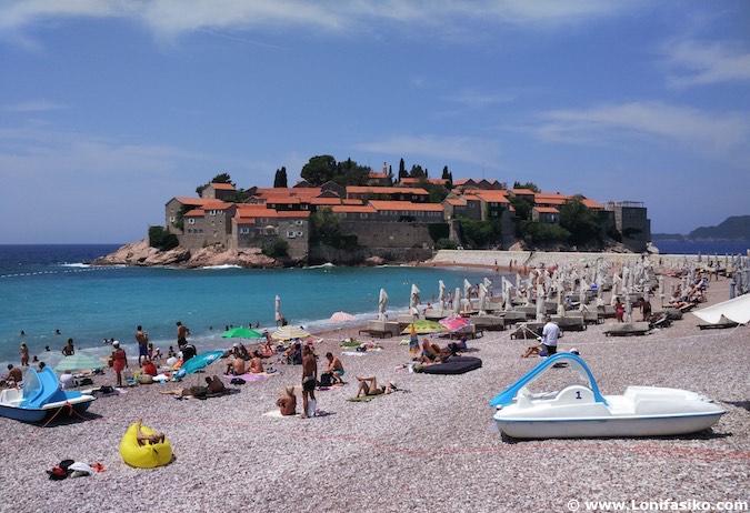 Sveti Stefan playas Montenegro fotos