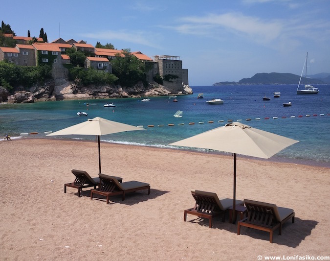 Sveti Stefan beach Montenegro photos