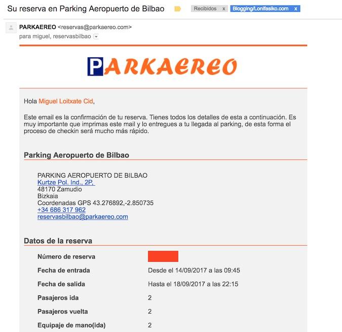 parking aeropuerto bilbao lowcost parkaereo