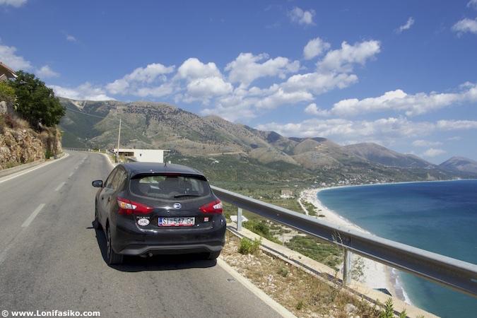 albania roadtrip riviera albanesa SH8 road
