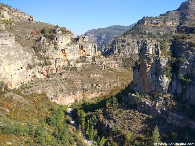 Cañon río Leza fotos La Rioja