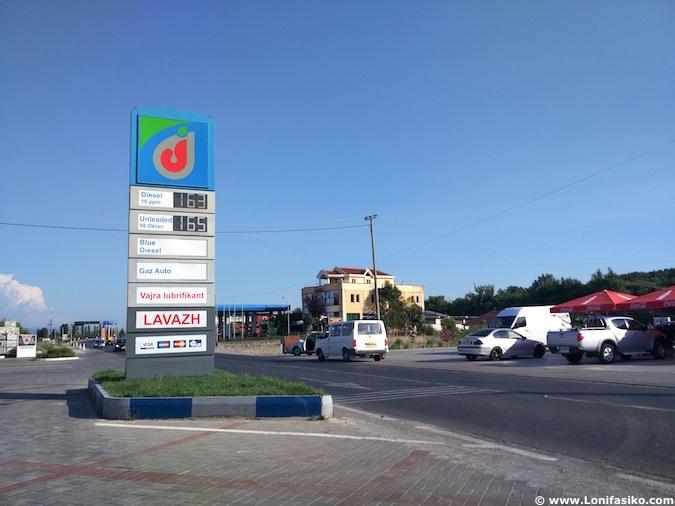 Albania precio gasolina