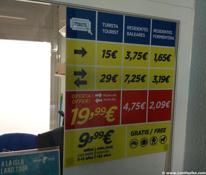 precios ferry ibiza formentera barco lowcost