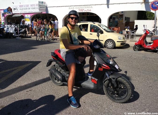 alquiler motos formentera