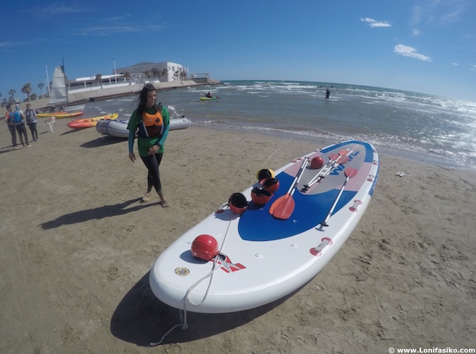 Stand-up paddle en Barcelona