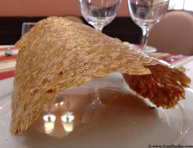 Teja en restaurante Manolo Mayo de Los Palacios