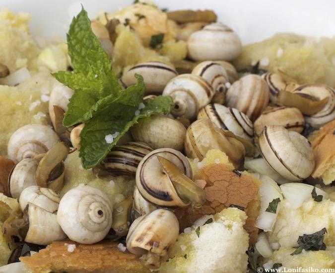 Sopa de caracoles bar Morillo en Los Palacios