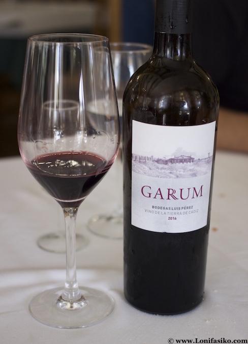 Vino tinto Garum de Cádiz