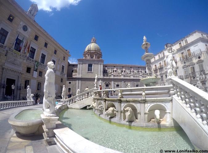 Fontana Pretoria en Palermo (Sicilia)