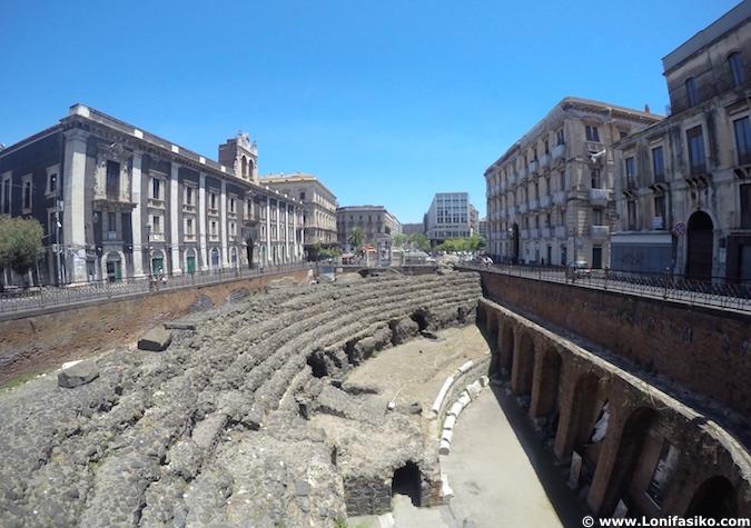 Anfiteatro romano Catania Sicilia