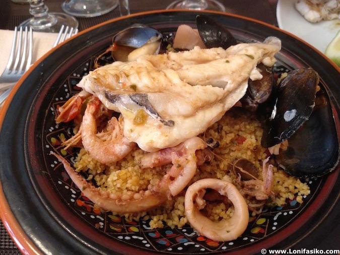 Cus cus pescado Trapani (Sicilia)