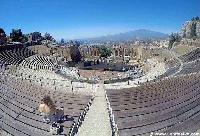 Fotos teatro greco-romano Taormina
