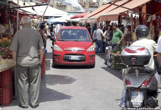Palermo tráfico caos