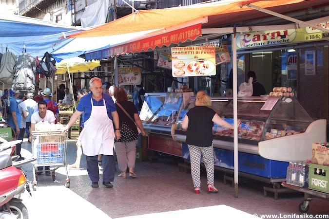 Mercado de Ballarò en Palermo