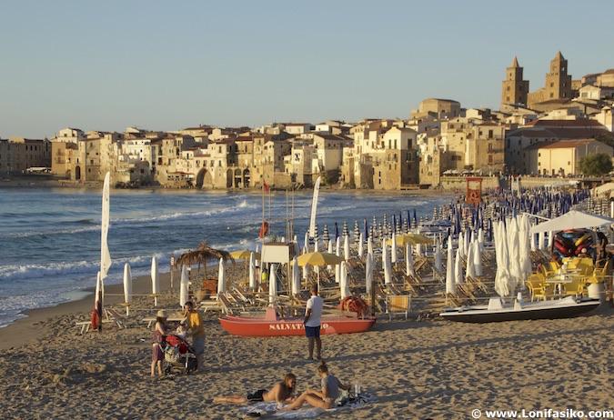 Playas de Cefalú Sicilia fotos