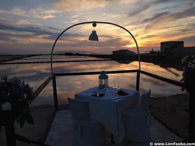 Restaurante salinas Trapani