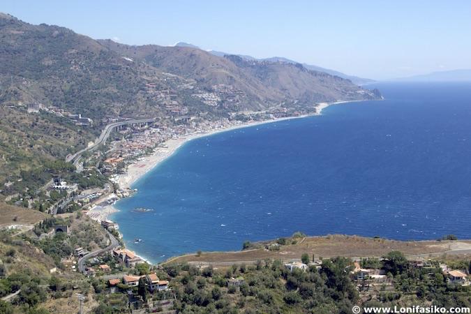 Playas Taormina mar Jónico