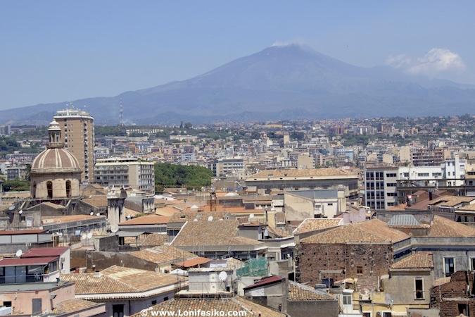 Volcán Etna desde Catania