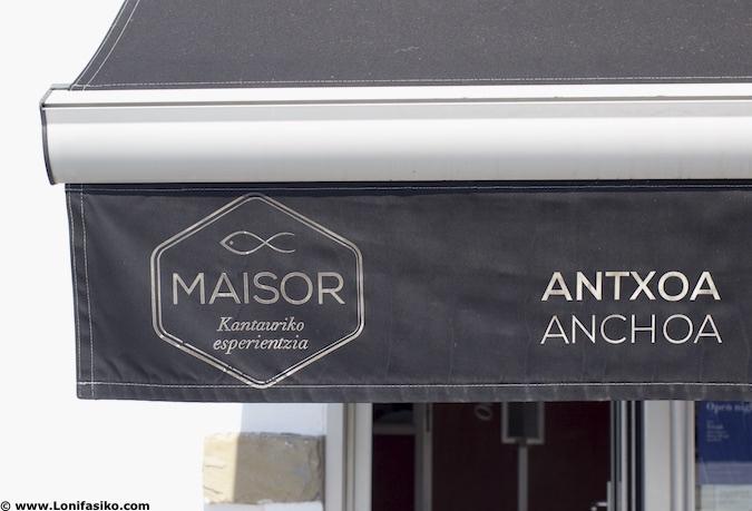 Comprar anchoas Maisor en Getaria