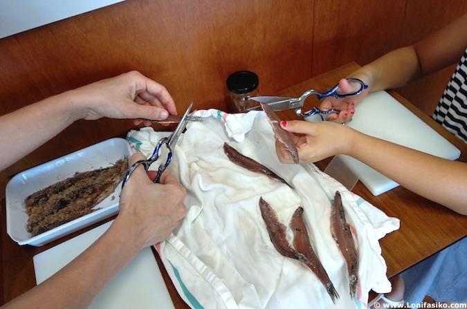 limpiar anchoas maisor getaria
