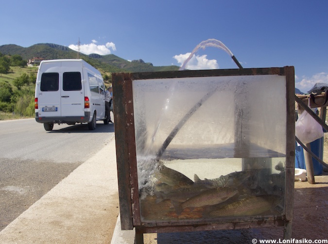 Koran pescado lago Orhid Albania