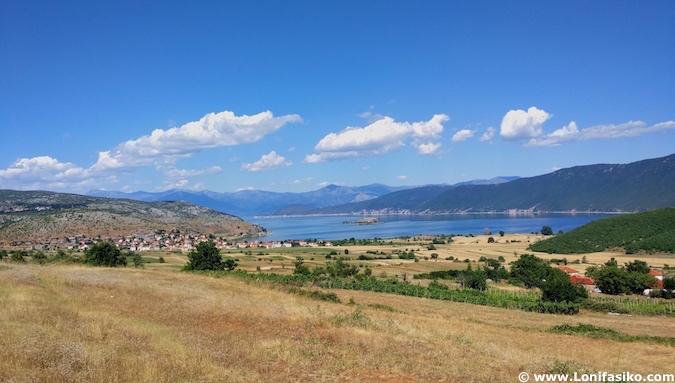 lago prespa postales albania