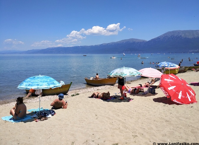 Playas Pogradec lago Orhid Albania
