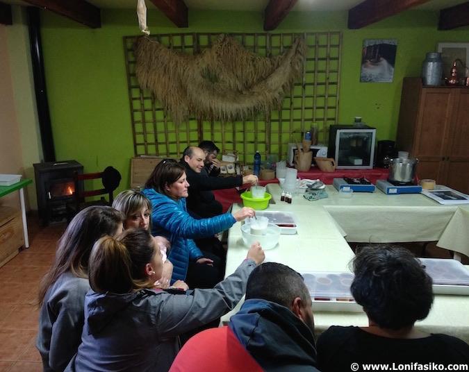 taller de elaboración de cuajada