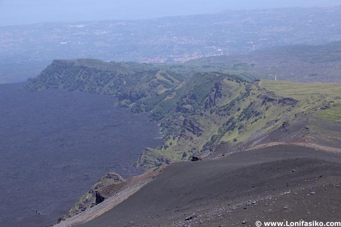Colada lava etna sicilia