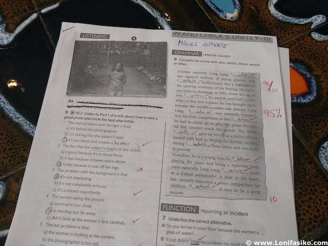 examen cursos de inglés en Liverpool Inglaterra