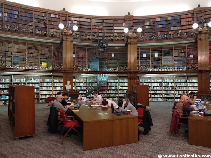 Picton reading room in Liverpool Central Library