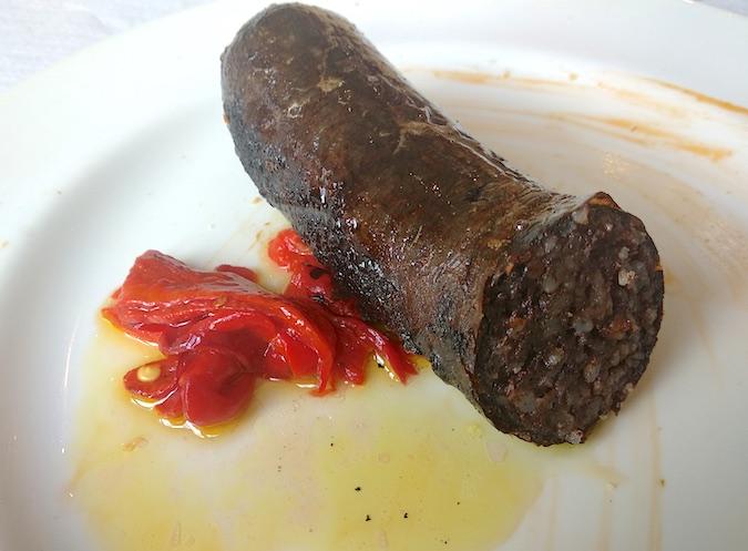 morcilla brasa restaurante Ochavo Sajazarra