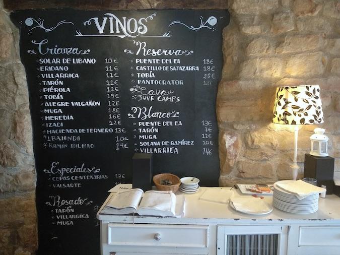 vinos restaurante asador ochavo sajazarra