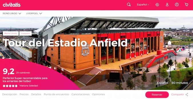Anfield Tour con Civitatis