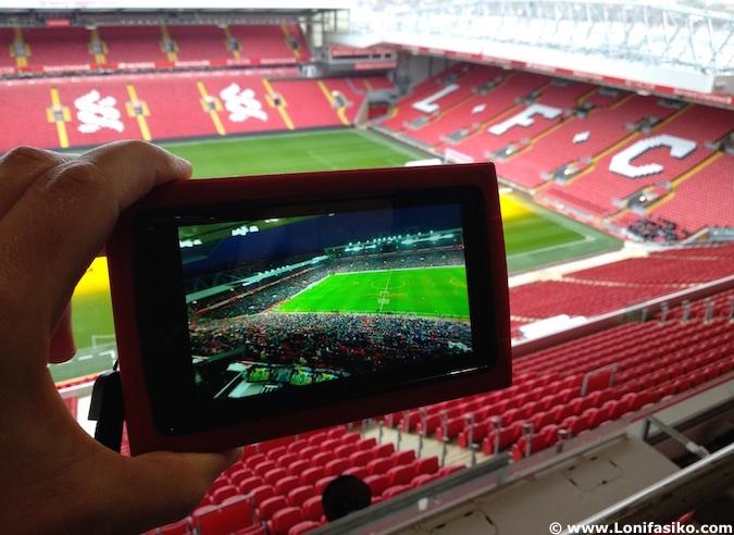 Realidad aumentada en el Anfield Tour en Liverpool