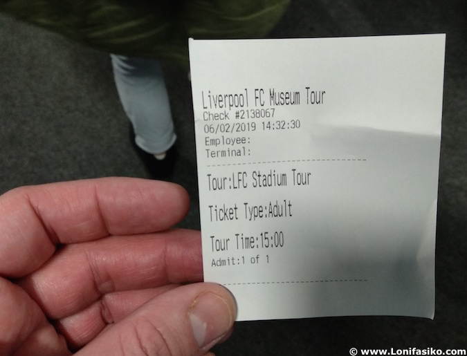 anfield tour visita precio entrada