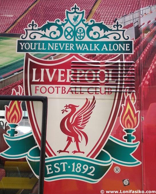 Autobús a Anfield en Liverpool