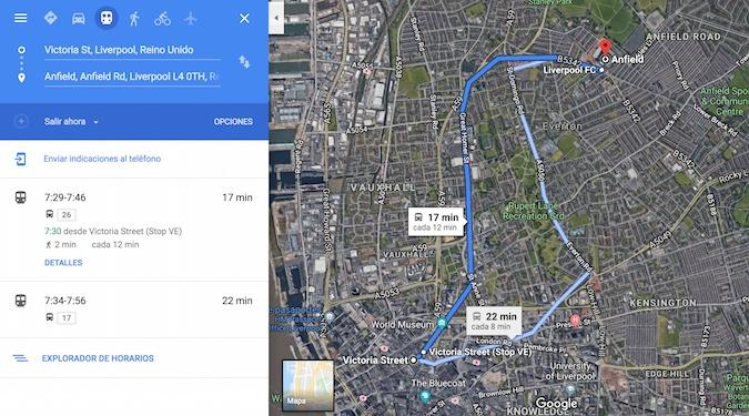 Cómo llegar a Anfield en Liverpool