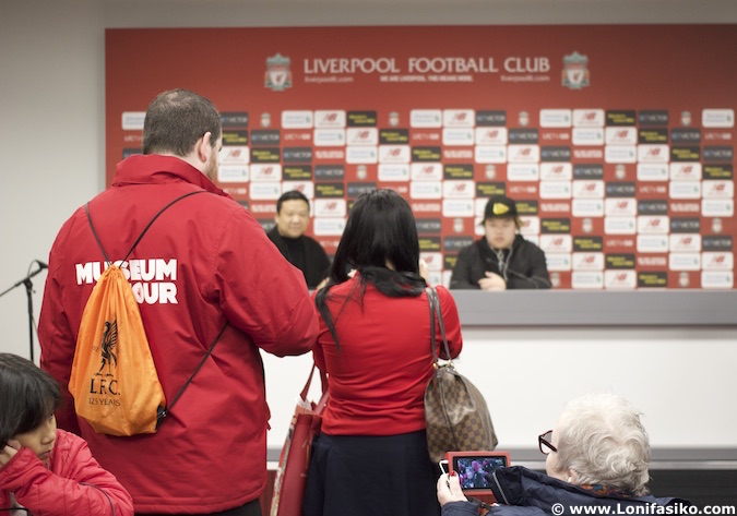 Sala de prensa Anfield Tour Liverpool