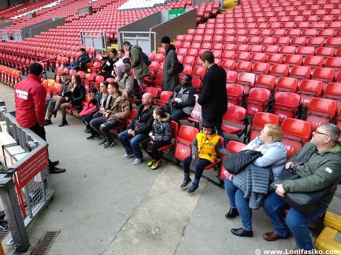 Tour de Anfield en el estadio del Liverpool FC