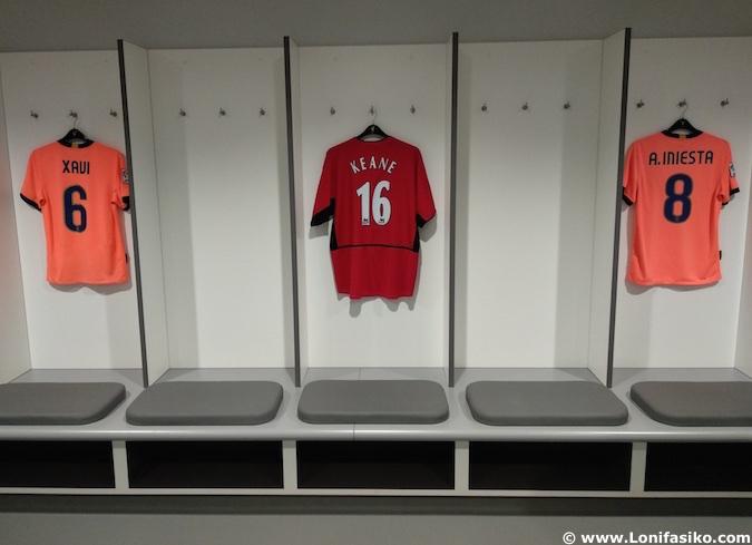 Vestuario visitante Anfield Liverpool