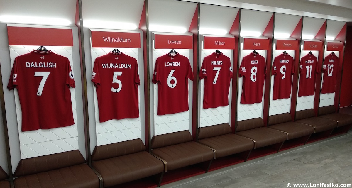 Vestuario Liverpool FC Anfield