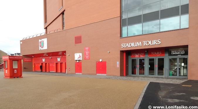 Visita guiada a Anfield en Liverpool