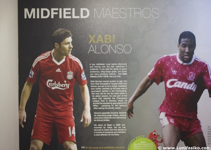 Xabi Alonso museo Liverpool FC Anfield