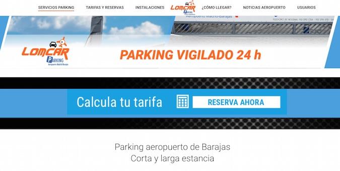 Parking cubierto y vigilado en aeropuerto de Madrid-Barajas