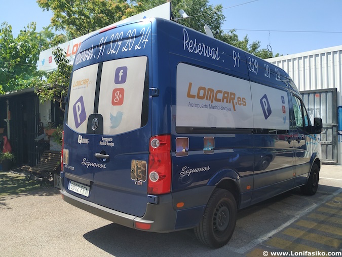parking lowcost lomcar en aeropuerto madrid-barajas