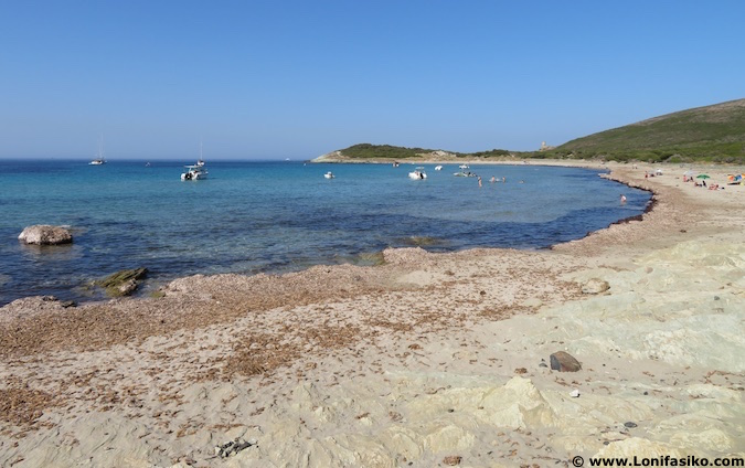 barcaggio playa cabo Córcega