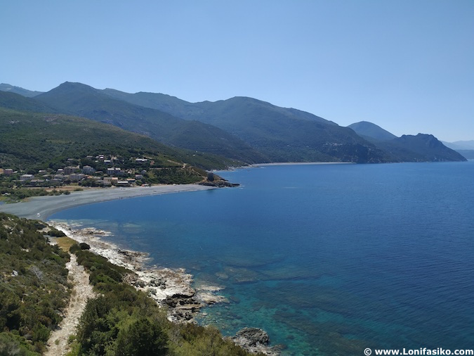 Carreteras de Cap Corse en Córcega
